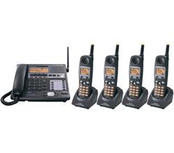 Panasonic 58GHz Cordless Phones panasonic kxtg 4500 b 3 tga 450 b