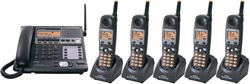 Panasonic 58GHz Cordless Phones panasonic kxtg 4500b 4 tga 450 b