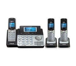 3 Handsets Phones with an Answering Machine   VTech ds6151 2 ds6101