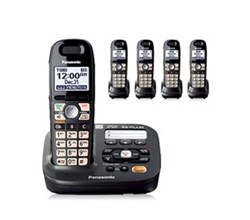 DECT 6.0 Cordless Phones Talking Caller ID panasonic kx tg6592t 3 tga659t