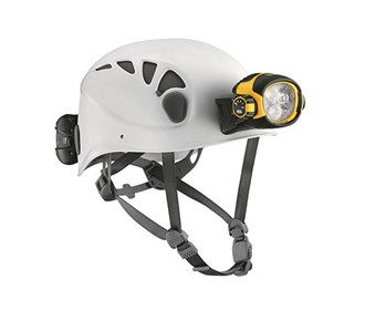 caving helmet with integrated headlamp