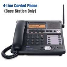 Panasonic 4 Line Corded / Cordless Phones panasonic kx tg4500 base only