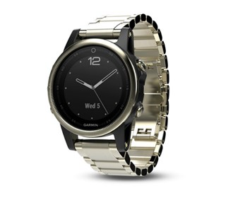 Garmin Fenix 5s Ch agne on gps rate monitor garmin