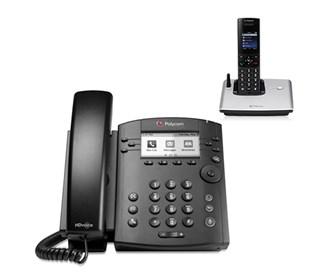 polycom 2200 48300 025 vvx 301 with wireless handset