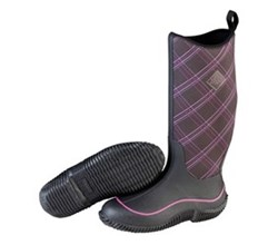 Muck Boots Womens hale print black purple plaid