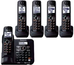 Panasonic Single Line Cordless Phones 5 Handsets panasonic kx tg6645B