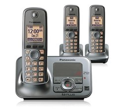 Panasonic 3 Handset Single Line panasonic kx tg4133m