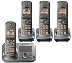 DECT 6.0 Cordless Phones Talking Caller ID panasonic kx tg4134m