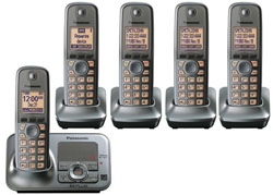 DECT 6.0 Cordless Phones Talking Caller ID panasonic kx tg4135m