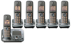 DECT 6.0 Cordless Phones Talking Caller ID panasonic kx tg4136m