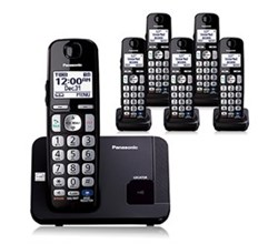 Panasonic 6 or More Handsets Cordless Phones panasonic kx tge216b r
