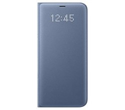 Blue Cases led wallet cover for samsung galaxy s8 plus