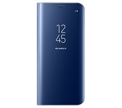 Blue Cases s view flip cover clear for samsung galaxy s8