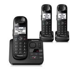 Panasonic Single Line Cordless Phones 3 Handsets panasonic kx tg3683b