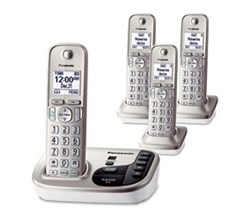 Panasonic Single Line Cordless Phones 4 Handsets panasonic kx tg444sk