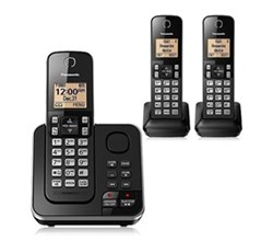 Panasonic Single Line Cordless Phones 3 Handsets panasonic kx tg633sk