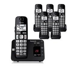Panasonic 6 or More Handsets Cordless Phones panasonic kx tge436b