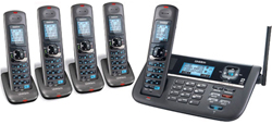 Uniden Five Handsets DECT 6 Cordless Phones uniden dect 4086 5