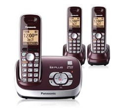 Panasonic 3 Handset Single Line panasonic kx tg6573r r