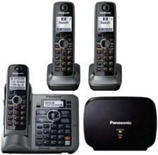 Panasonic Extended Range Cordless Phones kx tg7643m bonus range extender