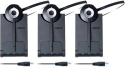 Jabra GN Netcom 3 Headset Bundles pro 930 uc mono 3 pack