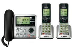 3 Handsets Phones with an Answering Machine   VTech cs6648 2 cs6649 2