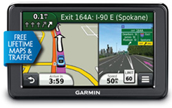 Garmin GPS with Lifetime Maps and Traffic Updates Nuvi 2555LMT