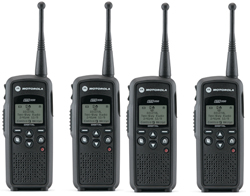 4 Radios motorola dtr550 4units