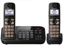 Panasonic Single Line Cordless Phones 2 Handsets panasonic kx tg4742b r