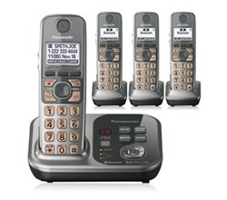 DECT 6.0 Cordless Phones Talking Caller ID uniden kx tg254sk