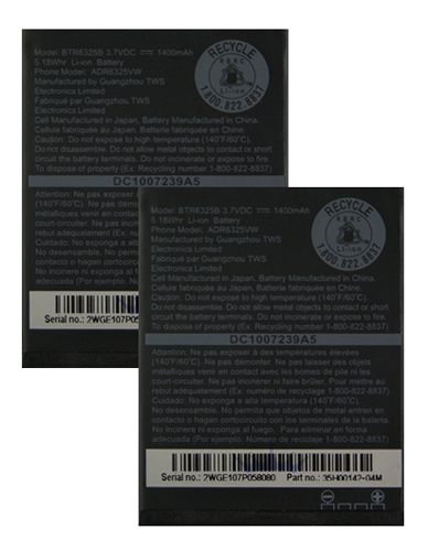 HTC New 2 Pack Replacement Battery for HTC 35H00142-03M Cell Phone Models 3.7v Lithium Ion at Sears.com