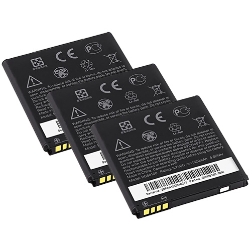HTC New 3 Pack Replacement Battery for HTC BG58100 Cell Phone Models 3.7v Lithium Ion at Sears.com