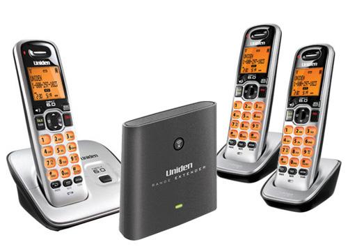 Uniden D1660-3 w/ Range Extender DECT 6.0 Compact Cordless Phone w/ 2 Handsets & Range Extender at Sears.com