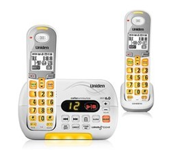 Two Handset Phones uniden d 3097 2 r