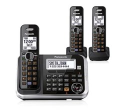 Panasonic 3 Handset Single Line panasonic kx tg6843b