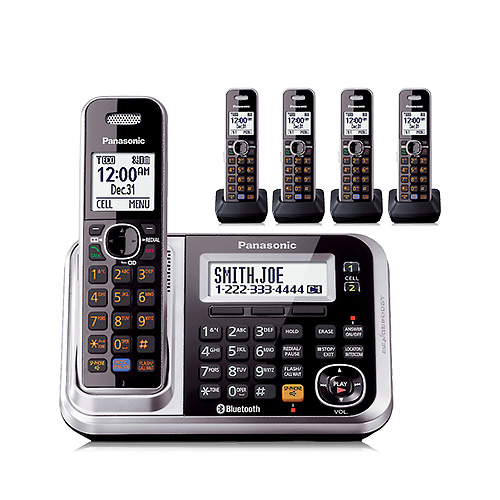 Panasonic Kx-tg7875s Dect 6.0 Link-to-cell Bluetooth(r) Cordless Phone System (5-handset System) at Sears.com