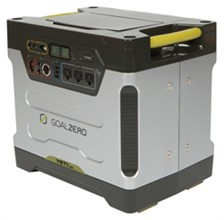 Heavy Duty Portable Power goal zero yeti 1250 solar generator with roll cart