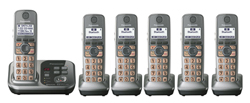 DECT 6.0 Cordless Phones Talking Caller ID panasonic kx tg7736s r