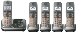 DECT 6.0 Cordless Phones Talking Caller ID panasonic kx tg7735s