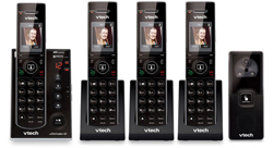 VTech 4 Handsets Wall Phones   VTech is7121 2 and 2 IS7101