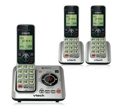 3 Handsets Phones with an Answering Machine   VTech cs6629 3