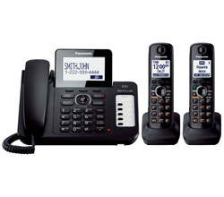 Panasonic 3 Handset Single Line panasonic kx tg6672b