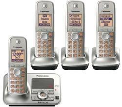DECT 6.0 Cordless Phones Talking Caller ID panasonic kx tg4134n