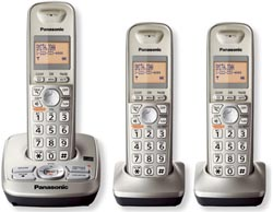 Panasonic 3 Handset Single Line panasonic kx tg 4223n