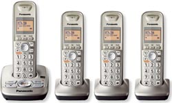 Panasonic Cordless Wall Phones panasonic kx tg 4224n