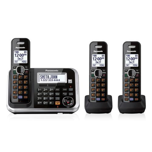 3 handset cordless telephone