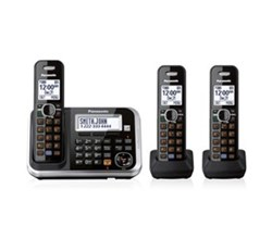 Panasonic 3 Handset Single Line panasonic kx tg6843b r