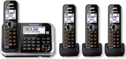 Panasonic Cordless Wall Phones panasonic kx tg6844b r