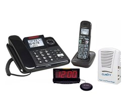 Hearing Impaired Cordless Phones clarity clrt e814cc wake sr100