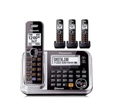 Panasonic Single Line Cordless Phones 4 Handsets panasonic kx tg7874s r